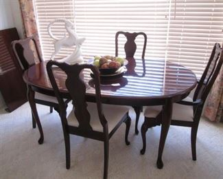 "Dining Room Table/4-Chairs and 1-24"" Leaf, 64"" X 42"""