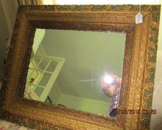 "Antique Ornamental Mirror 29 1/2"" x 25 1/2"""