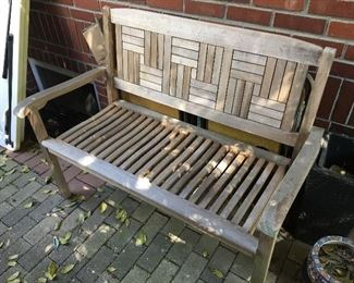 "Teak 48"" bench 2 available"