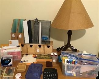 Various office items.