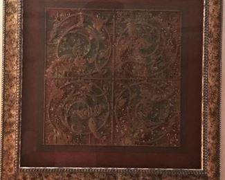 """Decorative wall piece 38"""" square"""