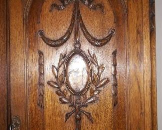 ornamentation on the china cabinet