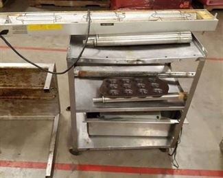 Metal Cart, Heat Lamp, Various Items