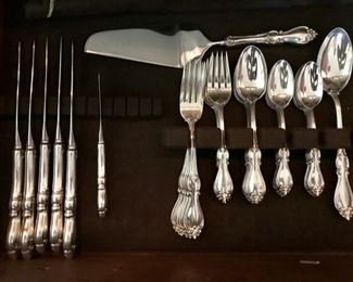 Set of 5 Place Settings, Butter, and Dessert - Towle