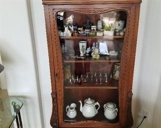 Antique display Cabinet with hidden storage