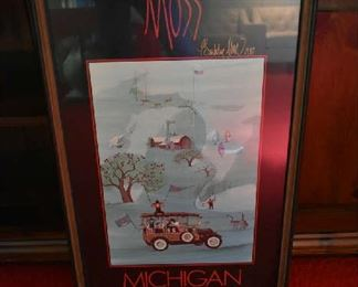 SIGNED MOSS POSTER