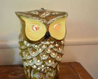 DOUBLE SIDED OWL LAMP