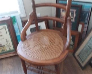cane seat chair  $30.00