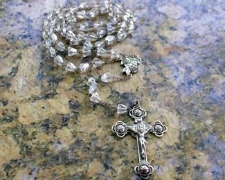 50's Sterling & Crystal Rosary