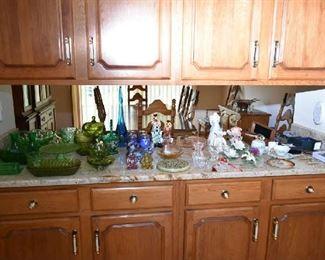 GREEN GLASS, WATERFORD, LENOX, FENTON