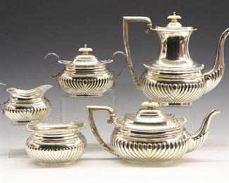 Five Piece Barker Brothers Ltd. Tea & Coffee Set