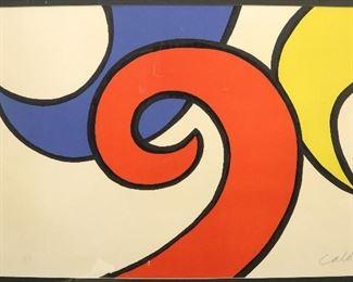 "Alexander Calder ""The Waves"" lithograph"