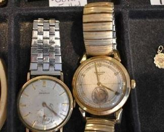 BENRUS WATCH-GOLD PLATED, LONGINES WATCH-14K