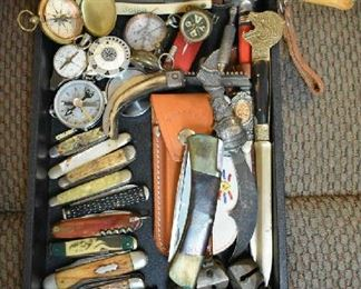 POCKET KNIVES, COMPASSES