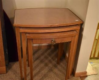 VINTAGE  3PC. STACKING TABLES