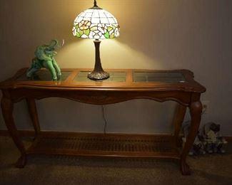 SOFA/ENTRY TABLE, LAMP