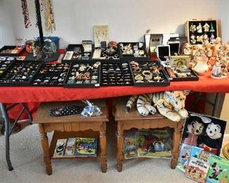 PRESIDENTIAL PINS, KLEENEX PINS, COSTUME JEWELRY, HUMMELS, ORIGINAL MICKEY & MINNIE , VINTAGE CHILDREN'S BOOKS
