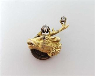 # 29 -14k Gold Pendent with Two Diamonds, 1.6g Weighs approx 1.6g
