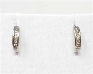 # 23 -Pair of 14k White Gold Diamond Earrings, 2.1g Weight approx 2.1g