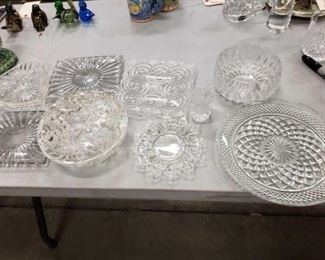 #1107: 9 Spectacular Crystal Candy Dishes in a Variety of Styles Measurements in Pictures
