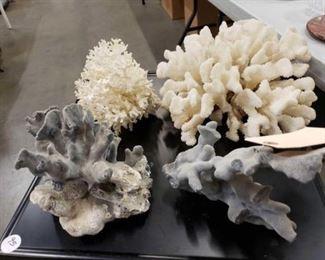 #1112: 4 pieces of under water sea life/plants 4 pieces of underwater ocean sea life/plants. Measurements in photos