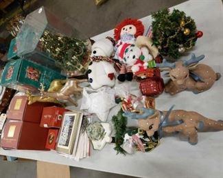 #1127: Christmas Decorations, Encased Tree, 2 Boxed Lenox Mug-trees, 2 Boxed Santa of the World, and More.. Christmas Decorations, Encased Tree, 2 Boxed Lenox Mug-trees, 2 Boxed Santa of the World, and More..