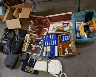 #1128: Lot of Purses, Liz Claiborne, Pierre Cardin, Nine West, and Games, Dominoes, Aggravation, Back Gammon and More.. Lot of Purses, Liz Claiborne, Pierre Cardin, Nine West, and Games, Dominoes, Aggravation, Back Gammon and More..