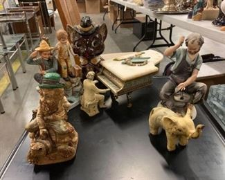 #1121: 7 Porcelain Figures with Makers Marks Measurements in Pictures
