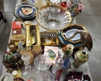 #1124: Misc Glass, Candle Holders, Ash Trays, Bowls, Figurines, Plates, and More Misc Glass, Candle Holders, Ash Trays, Bowls, Figurines, Plates, and More