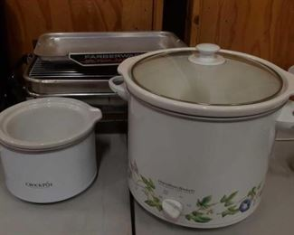 """#1208: Two Slow Cookers and Electric """"Open Hearth"""" Broiler Two Slow Cookers and Electric """"Open Hearth"""" Broiler"""