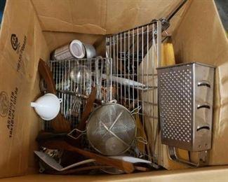#1212: Assorted Flatware, Knife Sets, Salad Utensils, Strainers, And More Assorted Flatware, Knife Sets, Salad Utensils, Strainers, And More