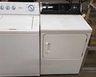 #1531: Amana Washer and Hotpoint Gas Dryer Amana Washer Model NTW4600VQ1 and Hotpoint Gas Dryer Model DLL3680SBLWH