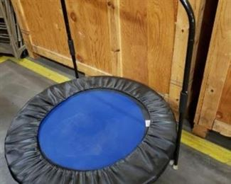 "#1603: Needak Small Trampoline Jumper with Handlebar Needak Small Trampoline Jumper with Handlebar, 40"" Wide"