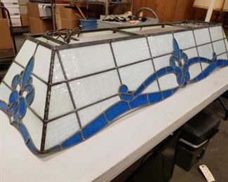 """#1711: 61.5"""" Stained Glass Pool Table Light Measures approximately 11"""" x 18"""" x 61.5"""""""