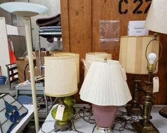 """#1712: 7 Lamps, 25"""" - 70"""" Tall 7 Lamps, 25"""" - 70"""" Tall"""