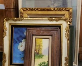 """#1800: 6 Pieces of Framed Artwork Measurements range from 21"""" x 14"""" to 35"""" x 29"""""""