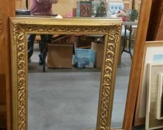 """#1801: Two Framed Mirrors Each measures approx 24"""" x 32"""" and 32"""" x 40"""""""