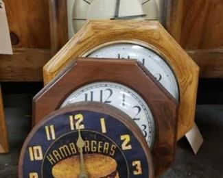 """#1803: 4 Clocks Measurements range from 8"""" to 16.5"""" tall"""
