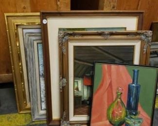 """#1806: 5 Pieces of Framed Artwork Measurements range from 21"""" x 17"""" to 35"""" x 30"""""""