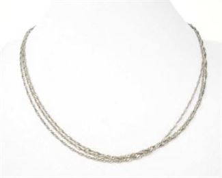 """#57: 14k White Gold Necklace, 6.4g Weighs approx 6.4g, measures approx 18"""""""
