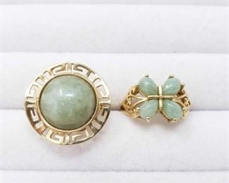 #58: Two 14k Gold Rings, 8.1g Weighs approx 8.1g, sizes 5 and 8