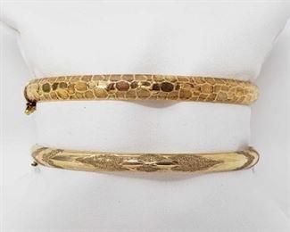 #6: Two 14k Gold Bracelets, 11.5g Pair of 14.k gold bracelets Approx. 11.5g