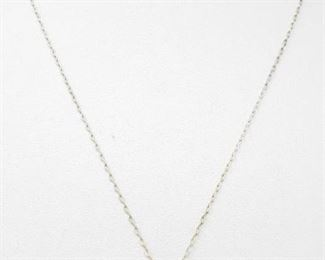 """#90: Sterling Silver Necklace with Pendent, 2.3g Weighs approx 2.3g, measures approx 18"""""""