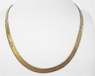 """#188: Sterling Silver Necklace, 21.4g Weighs approx 21.4g, measures approx 20"""""""