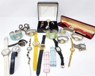 #221: Assorted Watches Brands include Genere, Futra, Jolie Matre, Netsuke, Fidelity and More