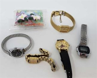 #230: 5 Watches and Floral Earrings 5 Watches and Floral Earrings