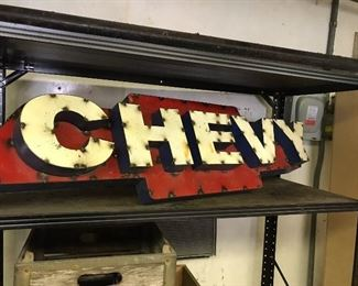 Chevy car mancave sign-cool