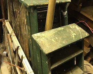 Vintage antique wood ladders