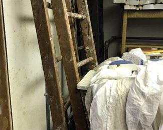 Long vintage ladders