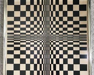 Vintage 70s Optical Illusion Art             https://ctbids.com/#!/description/share/155543